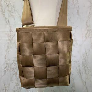 Harvey's original seatbelt crossbody bag purse tan